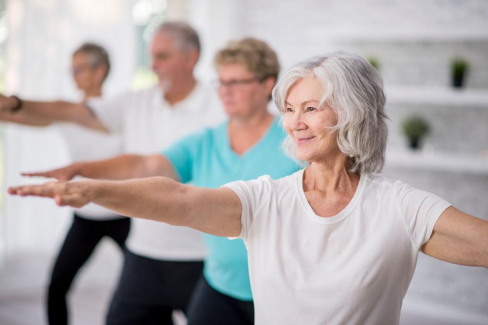 Jógové cvičení pro seniory